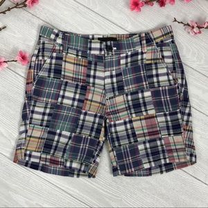 J Crew SUnday Slim Short Vintage Plaid Patchwork